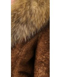Dallin Chase | Brown Amadeus Shearling Jacket with Fur Trim | Lyst