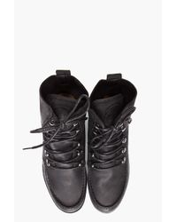 DIESEL - Black Builder Boots for Men - Lyst
