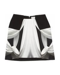 Dion Lee | Black Printed Silk-georgette Mini Skirt | Lyst