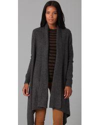 DKNY | Gray Cozy Cardigan Sweater | Lyst