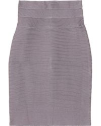 Hervé Léger - Purple High-waisted Bandage Pencil Skirt - Lyst