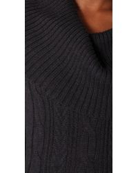 HHH by Haute Hippie - Gray Layer Up Cable Sweater Dress - Lyst