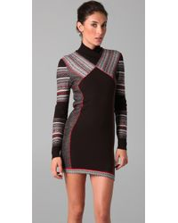 Matthew Williamson - Black Inuit Jacquard Panelled Dress - Lyst