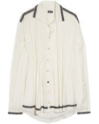 Meadham Kirchhoff | White Perseus Hand-embroidered Silk-twill Shirt | Lyst