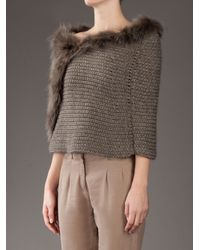 Pinko | Brown Milena Shrug | Lyst