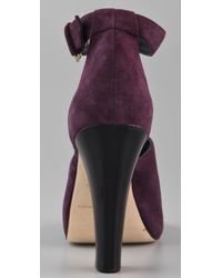 Rebecca Minkoff - Purple Goddess Platform Sandals - Lyst