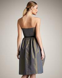 Robert Rodriguez   Gray Gracie Strapless Dress   Lyst