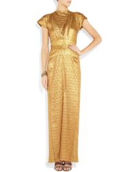 Roland Mouret | Wallis Metallic Embossed Silk-blend Gown | Lyst