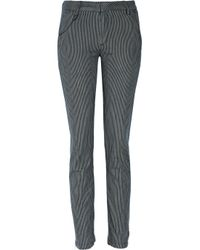 Vanessa Bruno Athé | Gray Striped Stretch-cotton Twill Skinny Pants | Lyst