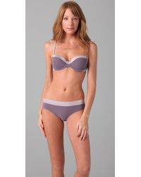Calvin Klein - Gray Perfectly Fit Satin Sculpt Balconet Bra - Lyst