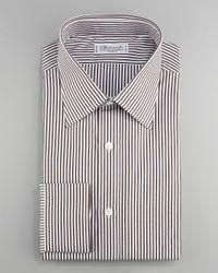 Charvet   Striped Dress Shirt, Brown for Men   Lyst