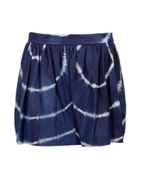 Gryphon | Blue Tie Dye Leather Skirt | Lyst