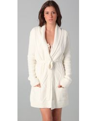 Juicy Couture - White Cable Robe - Lyst