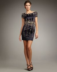 Mandalay | Blue Short-sleeve Rock-bead Dress | Lyst