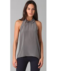 Porter Grey - Gray Sleeveless Blouse - Lyst