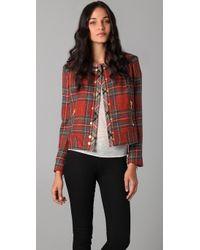 Rag & Bone - Red Harvard Plaid Jacket - Lyst