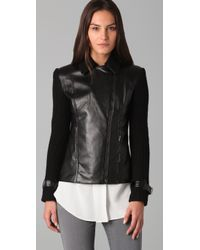 Sachin & Babi - Black Harley Faux Leather and Cable-knit Motorcycle Jacket - Lyst