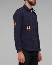 Folk - Blue Zevon Overshirt for Men - Lyst