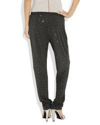 Michael Kors - Metallic Swarovski Crystal-embellished Jersey Pants - Lyst