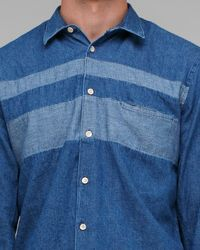 Our Legacy - Blue Chest Panel Shirt for Men - Lyst