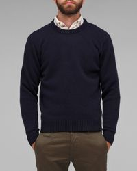 Our Legacy | Blue Boiled Crew Neck Knit for Men | Lyst