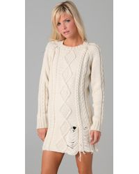 Pencey - White Sweater Dress - Lyst