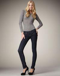 True Religion Blue Julie Lonestar Crystal-pocket Jeans