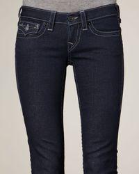 True Religion | Blue Julie Lonestar Crystal-pocket Jeans | Lyst