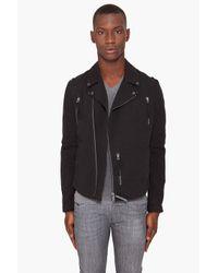 Robert Geller - Black Moto Jacket for Men - Lyst