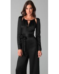 Temperley London - Black Stockdale Silk-satin Jumpsuit - Lyst