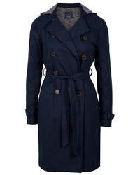 Gryphon | Blue Hooded Timeless Trench Coat | Lyst