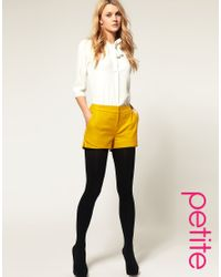 ASOS Collection - Yellow Asos Petite Wool Touch Short - Lyst