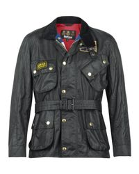 Barbour | Black Union Jack International Jacket for Men | Lyst