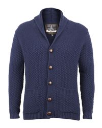 Barbour | Blue Navy Moss Shawl Collar Cardigan for Men | Lyst