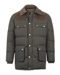 Barbour | Natural Olive Nord Down Quilted Jacket for Men | Lyst