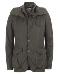 Barbour | Green Olive Waxed Cotton Sports Jacket for Men | Lyst