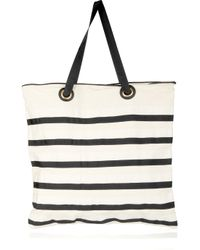 By Malene Birger | White Kalikoa Striped Canvas Tote | Lyst