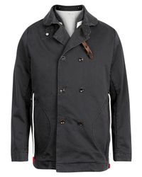 Folk - Blue Indigo Canvas Overcoat for Men - Lyst