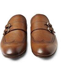 Gucci Brown Moccasin with Double Monk Strap for men