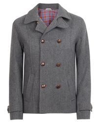 Oliver Spencer | Gray Grey Sailors Double Breasted Jacket for Men | Lyst