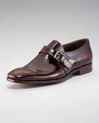 Prada | Black Monk-strap Wing-tip for Men | Lyst