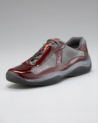 Prada Red Patent Leather Sneaker for men