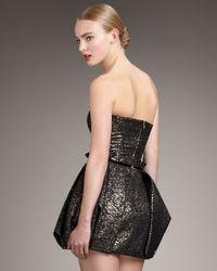 Rachel Zoe - Metallic Blair Strapless Bubble Dress - Lyst