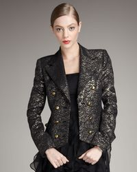 Rachel Zoe | Double-breasted Metallic Jacket | Lyst