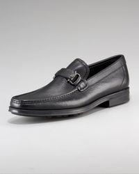 Ferragamo Black Collins Loafer for men