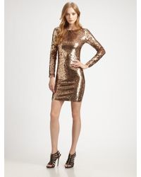 Alice + Olivia | Metallic Breck Sequined Dress | Lyst