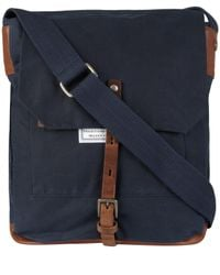 Ally Capellino | Blue Navy Slim Waxed Cotton Jonathon Messenger Bag for Men | Lyst