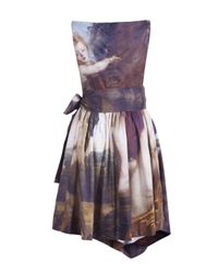 Vivienne Westwood Anglomania Multicolor Friday Printed Renaissance Dress