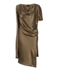 Vivienne Westwood Anglomania | Metallic Gold Silk Scarf Dress | Lyst