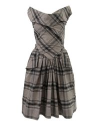 Vivienne Westwood Anglomania | Gray Grey Tartan Marghi Dress | Lyst